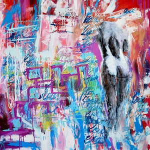 (CreativeWork) A love named desire by INDO The Artist. mixed-media. Shop online at Bluethumb.