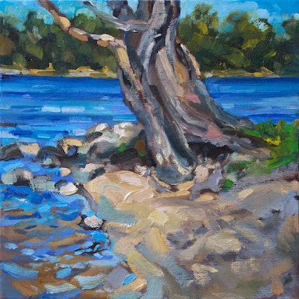 (CreativeWork) Chidley Point by Steven Makse. oil-painting. Shop online at Bluethumb.