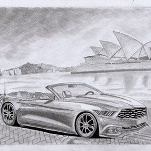 (CreativeWork) BAY OF SYDNEY by Prachitesh Jadhav. drawing. Shop online at Bluethumb.