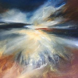 (CreativeWork) The Reckoning by Joanne Duffy. oil-painting. Shop online at Bluethumb.