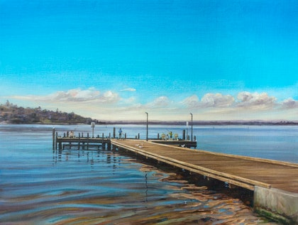 (CreativeWork) At Point Walter by Steven Makse. oil-painting. Shop online at Bluethumb.