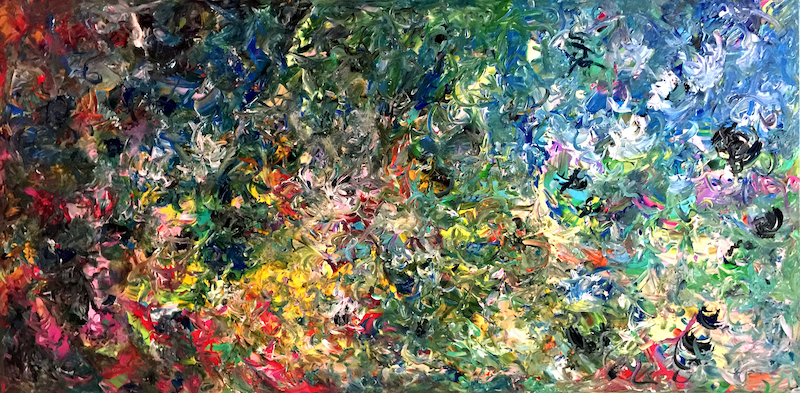 """(CreativeWork) Landscape of Turbulent Times (914 mm x 1829 mm - 36"""" x 72"""")  by Estelle Asmodelle. arcylic-painting. Shop online at Bluethumb."""