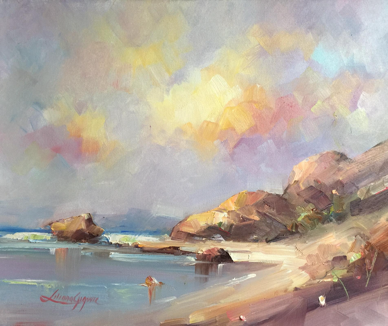 (CreativeWork) Gem of the Coral Coast #2 by Liliana Gigovic. oil-painting. Shop online at Bluethumb.
