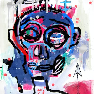 (CreativeWork) Untitled by Cameron Holmes. mixed-media. Shop online at Bluethumb.