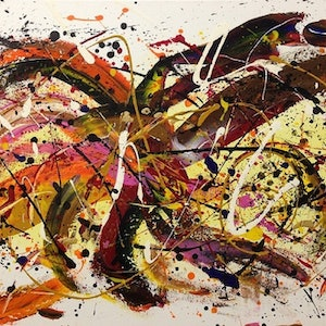(CreativeWork) LOBSTER by Ray Marsden. arcylic-painting. Shop online at Bluethumb.