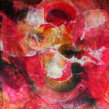 (CreativeWork) FLOODING LAVA by MO -. arcylic-painting. Shop online at Bluethumb.