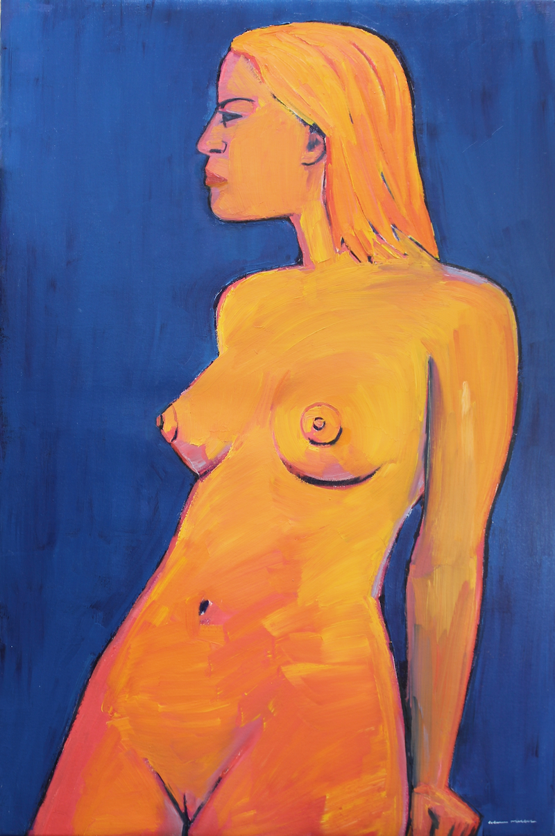 (CreativeWork) Resting Nude 2 by Glenn Miller. oil-painting. Shop online at Bluethumb.