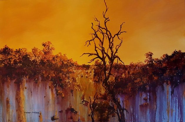 (CreativeWork) Reprieve by Helen Miles. Acrylic Paint. Shop online at Bluethumb.