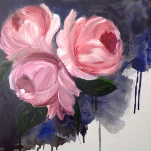 (CreativeWork) Blooms by Leah Dodd. arcylic-painting. Shop online at Bluethumb.