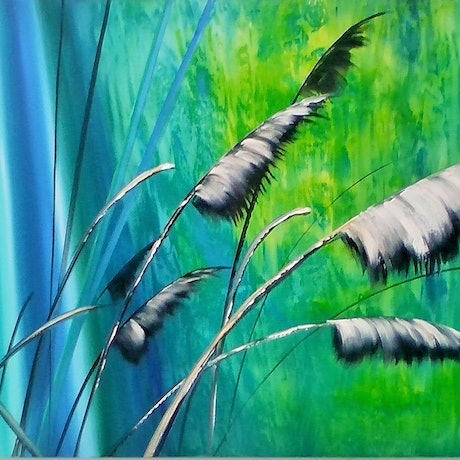 (CreativeWork) COASTAL LIVING by Basia Kilian. Acrylic Paint. Shop online at Bluethumb.