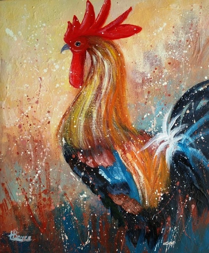 (CreativeWork) Wake -up Call by Lorelle Boyce. arcylic-painting. Shop online at Bluethumb.