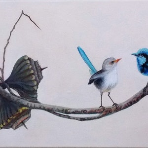 (CreativeWork) 'Nuts about you' by Paula Wiegmink. arcylic-painting. Shop online at Bluethumb.