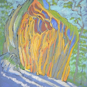 (CreativeWork) Temple Rock on Donkey Mountain  by Boyd McMillan. drawing. Shop online at Bluethumb.
