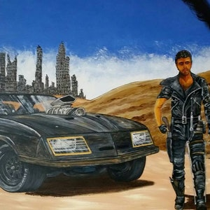 (CreativeWork) Valley of the Interceptor by Gerard Kearney. arcylic-painting. Shop online at Bluethumb.
