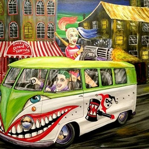(CreativeWork) Suicide kombi by Gerard Kearney. arcylic-painting. Shop online at Bluethumb.