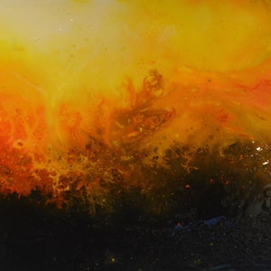(CreativeWork) Fire-Blaze by Maria Kunnumpurath. arcylic-painting. Shop online at Bluethumb.