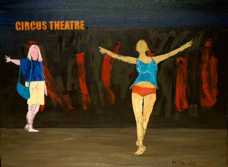 (CreativeWork) Circus Theatre by Mike Francis. oil-painting. Shop online at Bluethumb.