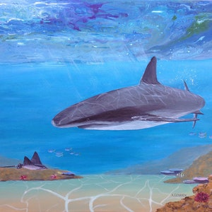 (CreativeWork) Sea Life by Kylie Genrich. Acrylic Paint. Shop online at Bluethumb.