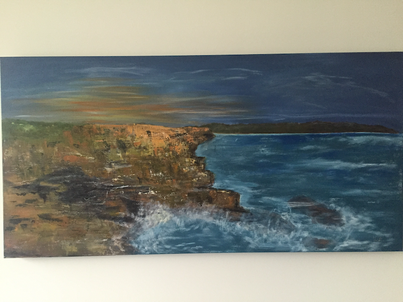 (CreativeWork) The cliffs of Malabar by Lily Vella. arcylic-painting. Shop online at Bluethumb.