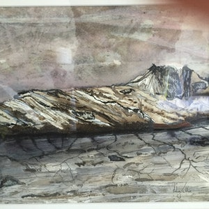 (CreativeWork) Driftwood by Lily Vella. mixed-media. Shop online at Bluethumb.