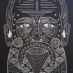 (CreativeWork) Dhuwi by Brent Emerson. print. Shop online at Bluethumb.