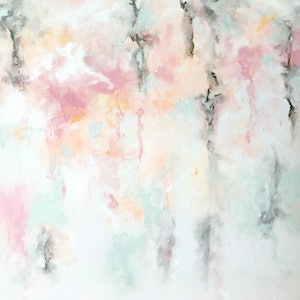 (CreativeWork) PASTEL RAIN by April Lockwood. arcylic-painting. Shop online at Bluethumb.