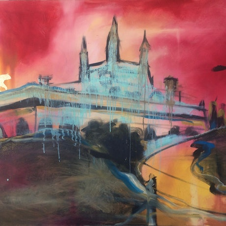 (CreativeWork) Castle of Dreams by Emily Bowen. Mixed Media. Shop online at Bluethumb.