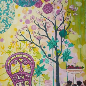 (CreativeWork) Spring Song by shae leviston. arcylic-painting. Shop online at Bluethumb.