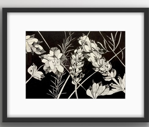 (CreativeWork) Flora 4 by Tania Daymond. Drawings. Shop online at Bluethumb.