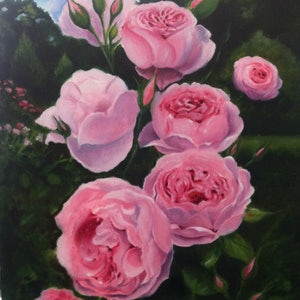 (CreativeWork) The Fragrant Garden by Rosemary Williamson. oil-painting. Shop online at Bluethumb.