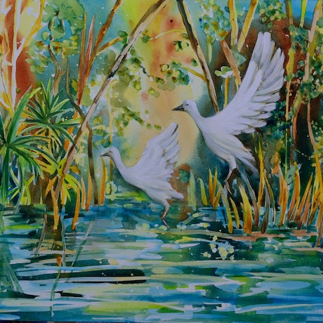 (CreativeWork) Free to Fly by Chris Hobel. Acrylic Paint. Shop online at Bluethumb.