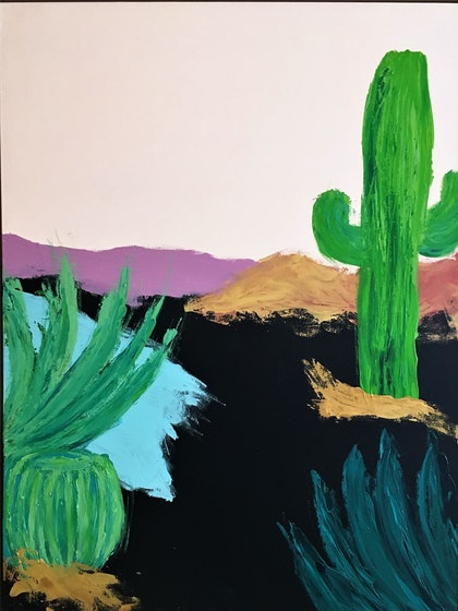 (CreativeWork) Sonoran by Christopher Broome. arcylic-painting. Shop online at Bluethumb.