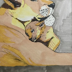 (CreativeWork) A mother's love  by Kimberly Chojnacki. watercolour. Shop online at Bluethumb.