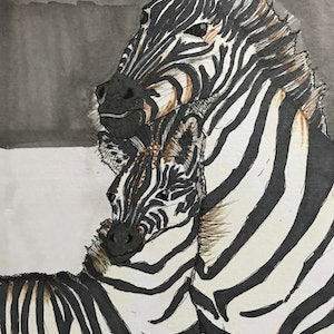(CreativeWork) A mother's protection by Kimberly Chojnacki. watercolour. Shop online at Bluethumb.