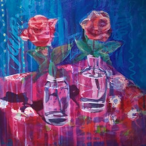 (CreativeWork) Cafe Cuba by Louise Taylor. arcylic-painting. Shop online at Bluethumb.