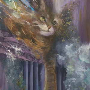 (CreativeWork) Nine lives  by Betty Chan. arcylic-painting. Shop online at Bluethumb.
