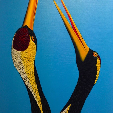 (CreativeWork) Love Dance by Trevor Brown. Oil Paint. Shop online at Bluethumb.
