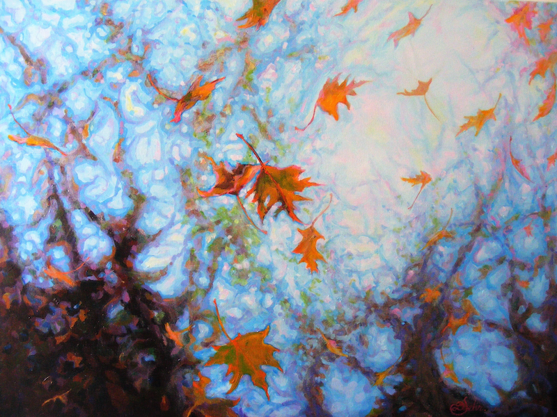 """(CreativeWork) """"THE FALL"""" by Daniela Selir. arcylic-painting. Shop online at Bluethumb."""