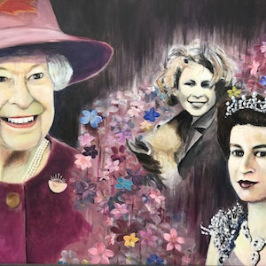 (CreativeWork) Years of the Queen  by Betty Chan. arcylic-painting. Shop online at Bluethumb.