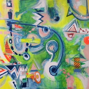 (CreativeWork) The Voyage by David White. arcylic-painting. Shop online at Bluethumb.