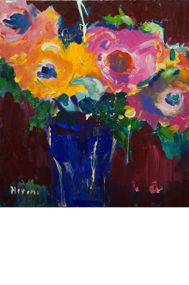 (CreativeWork) THE BLUE VASE by Hiromi Andrew. Acrylic Paint. Shop online at Bluethumb.