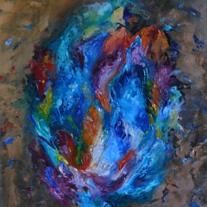 (CreativeWork) An Opal Hearted Country by Rosemary Williamson. oil-painting. Shop online at Bluethumb.