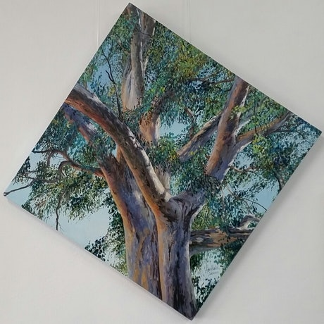 (CreativeWork) BRANCHING OUT SERIES # anti OCD 2 by Margaret HADFIELD. Oil Paint. Shop online at Bluethumb.