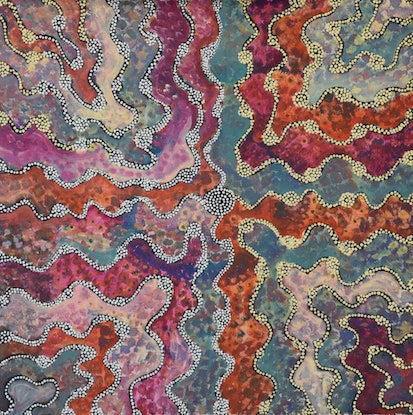 (CreativeWork) Rockhole and Spinifex, 16-283 by Ethel (Narelle) Holland. #<Filter:0x00007f734f24b408>. Shop online at Bluethumb.