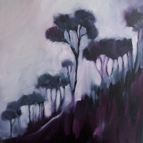 (CreativeWork) Into the purple haze by Jude Willis. Oil Paint. Shop online at Bluethumb.