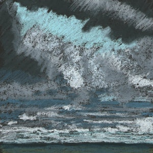(CreativeWork) Glimpse of Blue  by Boyd McMillan. drawing. Shop online at Bluethumb.