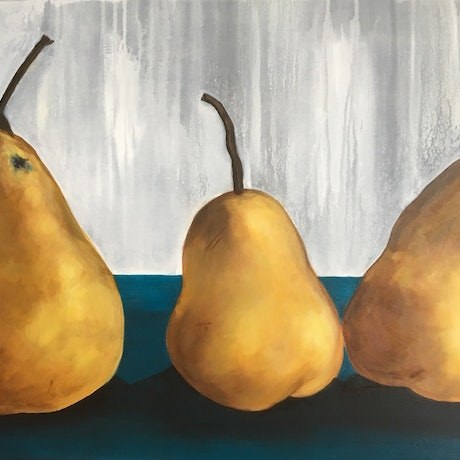(CreativeWork) Golden Delicious by Sally Delorenzo. Acrylic Paint. Shop online at Bluethumb.