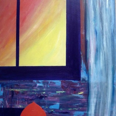(CreativeWork) The Window by Jarrod Carter. Acrylic Paint. Shop online at Bluethumb.