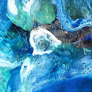 (CreativeWork) steps through a rockpool. Original resin art  by Trudy Lowndes. resin. Shop online at Bluethumb.
