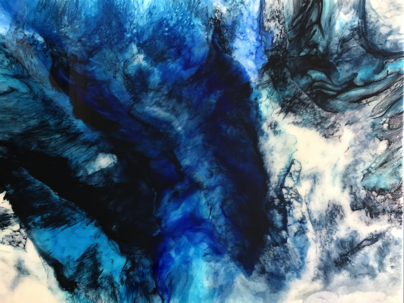 (CreativeWork) Blues by Martine Vanderspuy. resin. Shop online at Bluethumb.